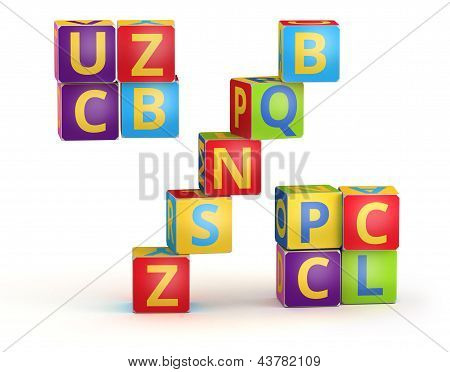 Percent maked from abc cubes