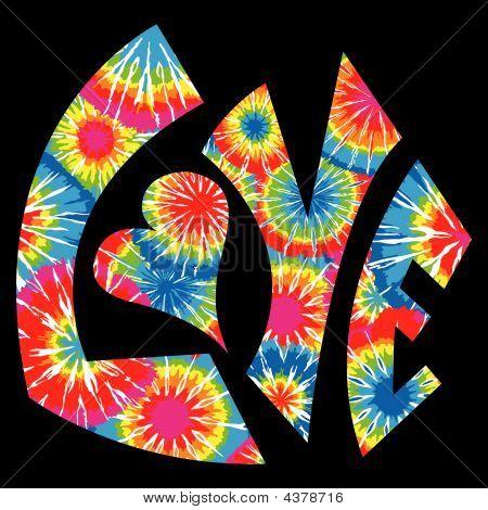 Tie Dyed Love Symbol