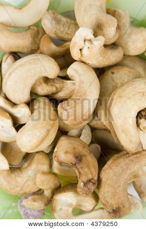 Cashews Fried On Saucer