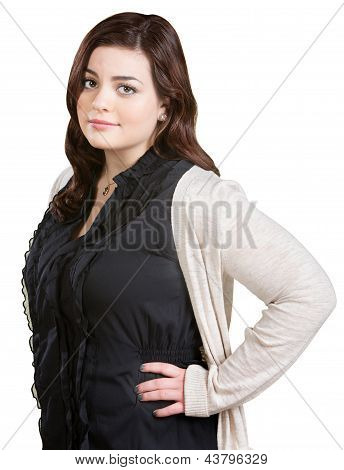 Lady With Hands On Hips