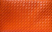 beautiful orange artificial leather  with wooden texture poster