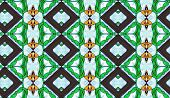 A stained glassed design pattern with diamond shapes poster