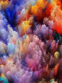Background composition of colorful fractal turbulence to complement your layouts on the subject of fantasy dreams creativity imagination and art poster