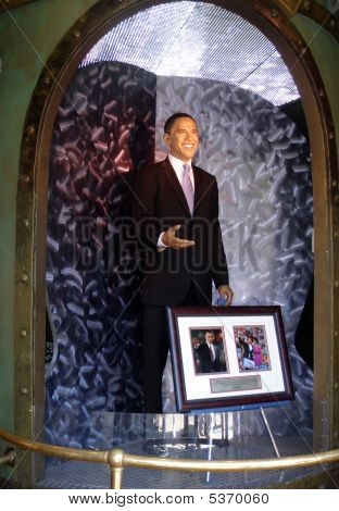 Wax Statue Of President Barak Obama