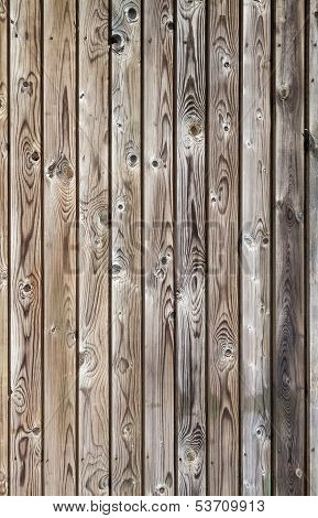 Vertical uncolored weathered gray wooden lining boards poster