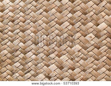 Wicker Wall Detailed Background Pattern