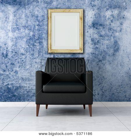 Blue Grunge Interior