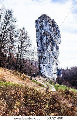 National Park In Ojcow - Poland. Rock Called Hercules' Club.