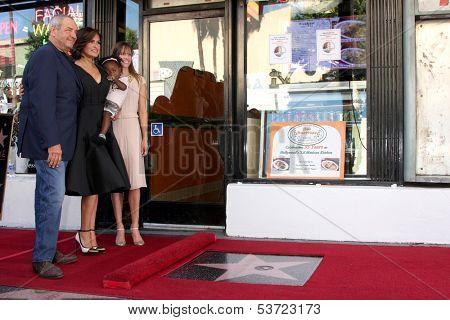 LOS ANGELES - NOV 8:  Dick Wolf, Mariska Hargitay, Hilary Swank at the Mariska Hargitay Hollywood Walk of Fame Star Ceremony at Hollywood Blvd on November 8, 2013 in Los Angeles, CA\