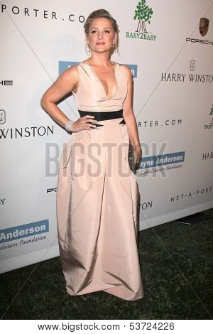LOS ANGELES - NOV 9:  Jessica Capshaw at the Second Annual Baby2Baby Gala at Book Bindery on November 9, 2013 in Culver City, CA