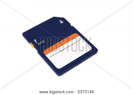 Sd Card Isolated On White Background. Front View