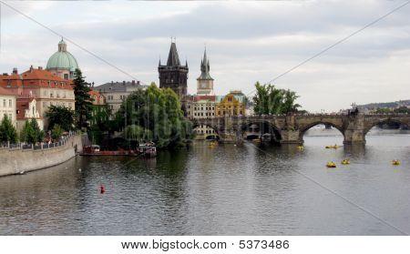Charles (karlov) Bridge In Prague