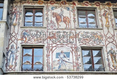 The Facade Of House In Lucerne