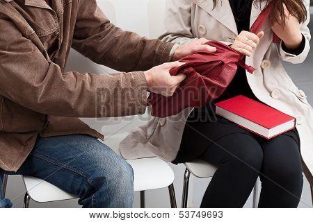 Yanking On Bag