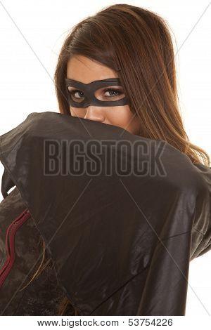 Bandit Mask Look Over Cape Close