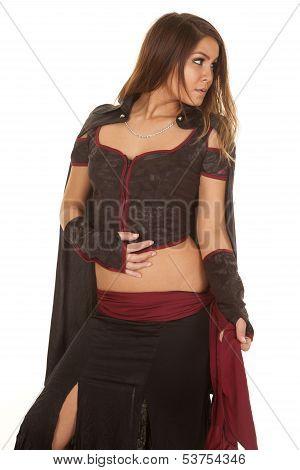 Woman Bandit Look Side
