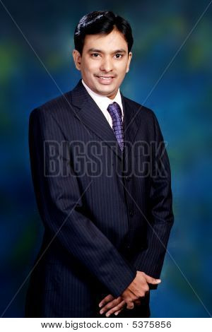 Wealthy Indian Businessman Posing