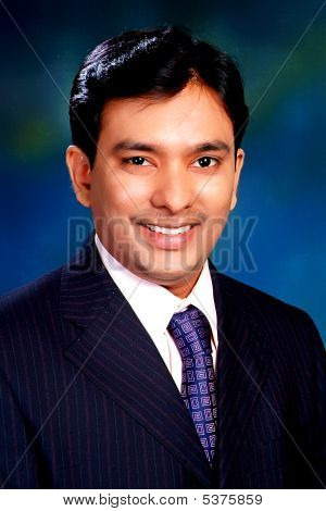 Happy Profile Of An Indian Businessman