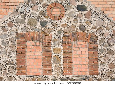 Windows On Wall Filled In With Bricks