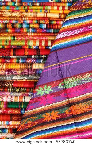 Colorful Linens in Otavalo
