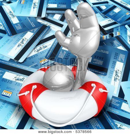 Lifebuoy Hilfe In ein Meer von Kreditkarten