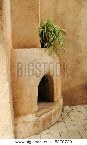 Adobe Fireplace
