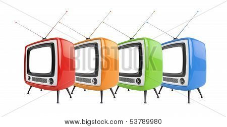 Group Of Color Tvs