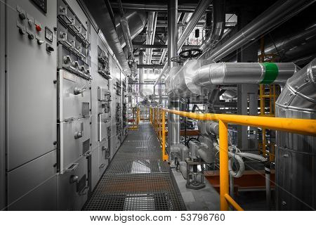Pipes In A Modern Thermal Power Station