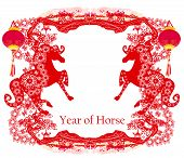 Year of Horse graphic design , vector illustration poster