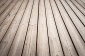 Wooden floor background photo texture with perspective effect poster