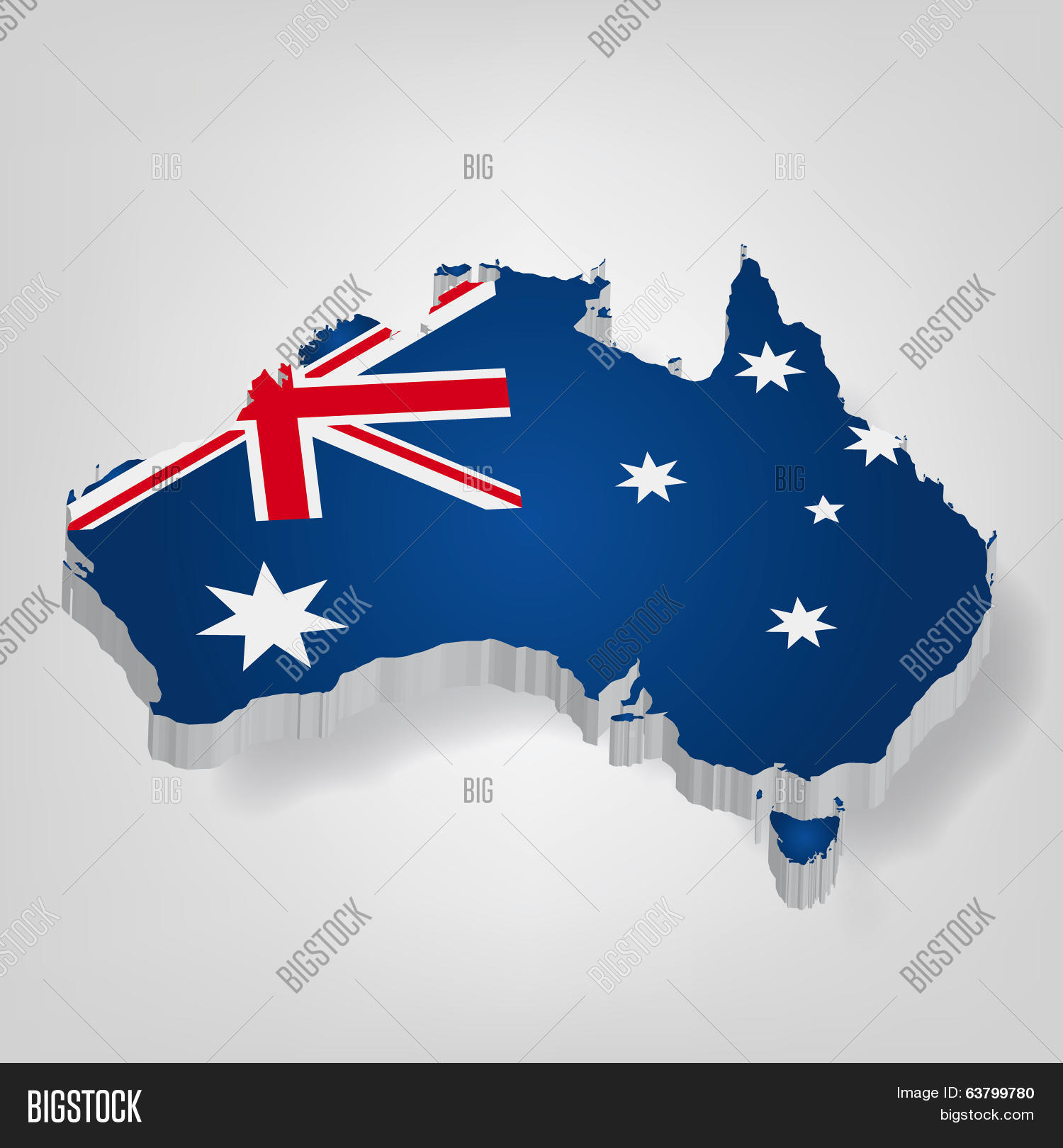 Free 3d Map Of Australia.3d Vector Flag Map Vector Photo Free Trial Bigstock