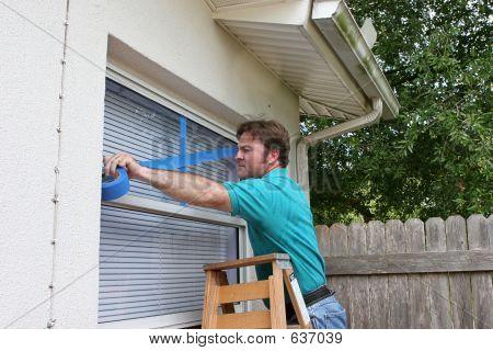 Homeowner Tapes Windows