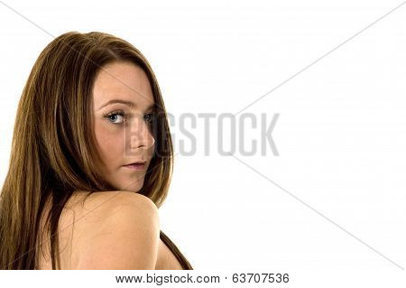 Brunette Woman - Head And Shoulders 2