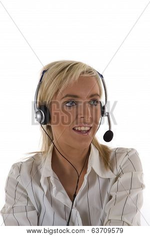 Blonde Female Receptionist
