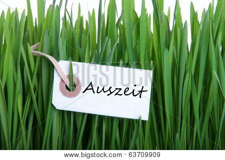 White Banner With Auszeit