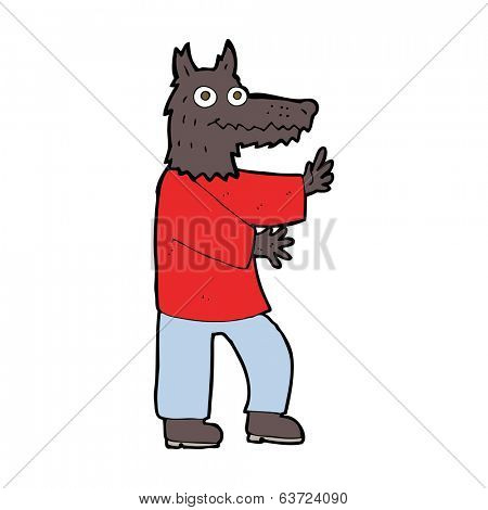 cartoon funny werewolf poster