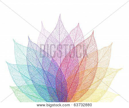 Leaf abstract background. Vector, EPS 10.