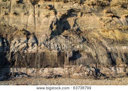 Geological Detail Image Mesozoic Rock Landscape Close Up