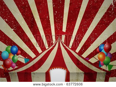 Illustration of Vintage circus. a circus vintage poster for your advertising poster