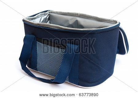 Blue Lunch Pack Carrier On A White Background