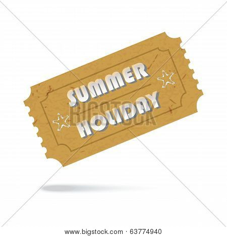 Ticket Summer Holiday Icon Isolated