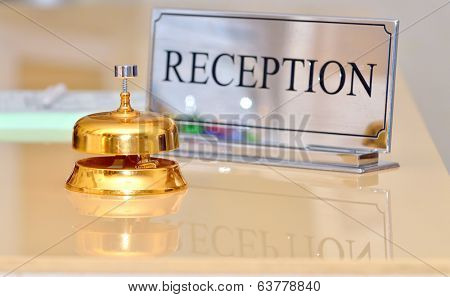 hotel bell on the table