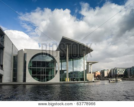 River Spree In Front Of The German Chancellery In Berlin