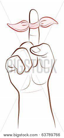 Ribbon Finger