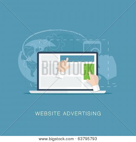 Flat website banner advertising vector illutration concept