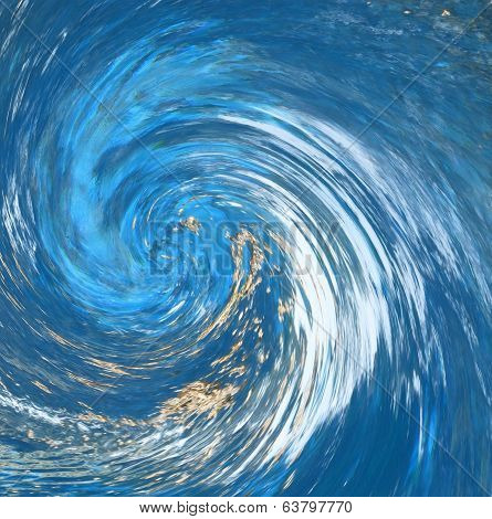Hurricane Or Tornado Abstract