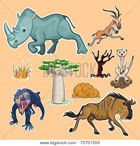 Africa Animals & Trees Collection