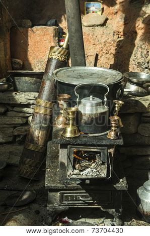 Traditional Stove And Utstensiles