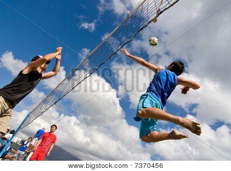 Beach Volleyball spike