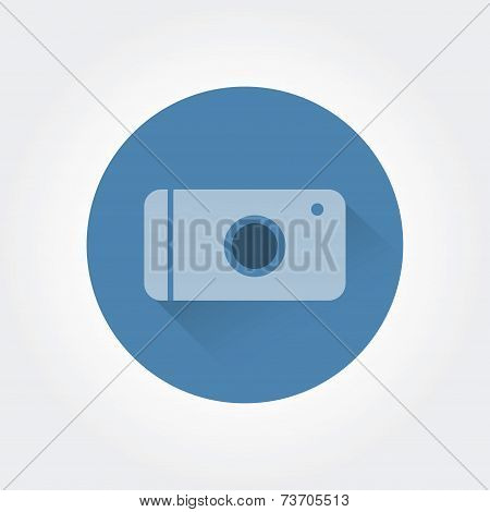 Abstract photo logo icon concept isolated on white background for business design. Key ideas is busi